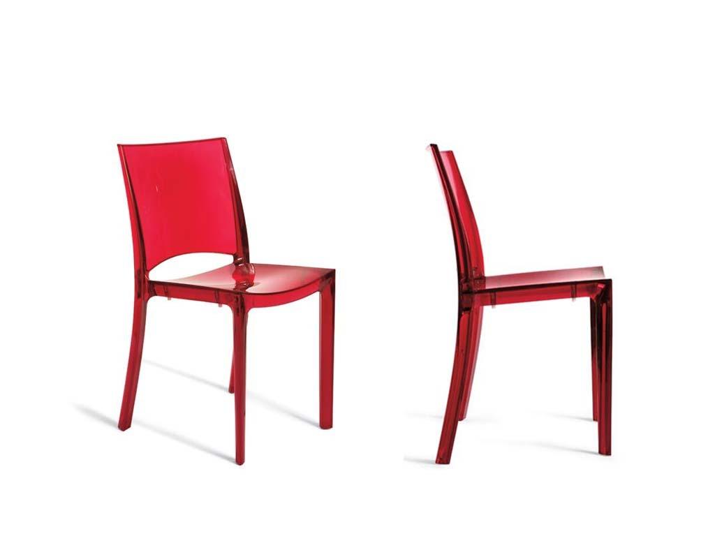 Noleggio sedia bi side rossa oltreilgiardino for Sedia rossa